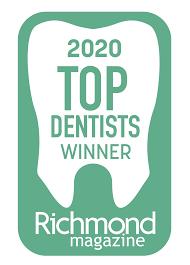 2020 Top Dentists Winner Richmond Magazine
