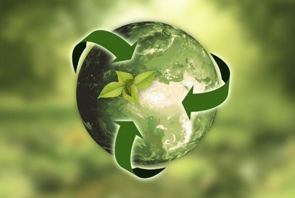 earth with reduce reuse recycle arrows