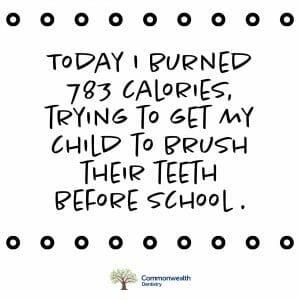humorous meme about pediatric oral health